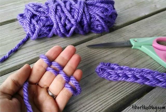 Πλέξιμο με τα δάχτυλα 1