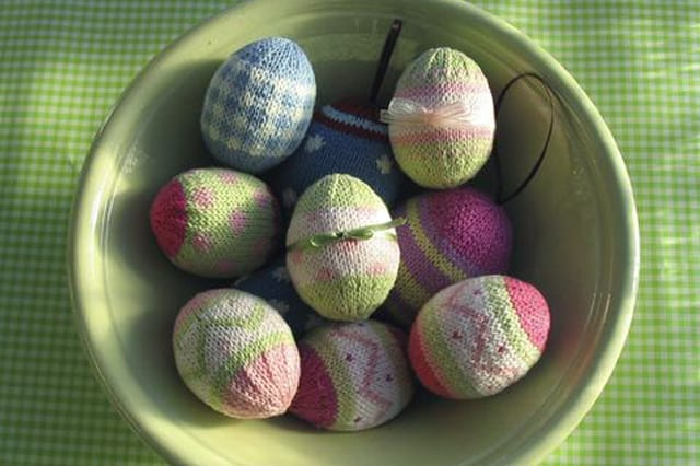 Πλεκτά διακοσμητικά πασχαλινά αυγά 3