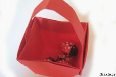 Πασχαλιάτικα καλαθάκια origami 25