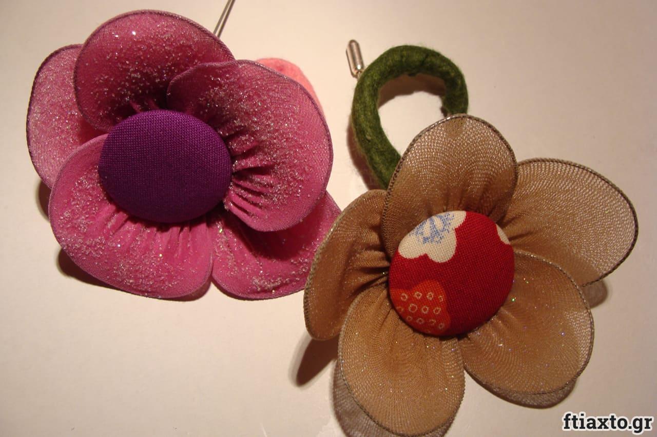 Λουλούδια από καλσόν 3