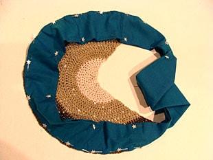 Τσάντα με βελονάκι & ύφασμα 4