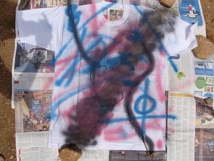 Μπλουζάκι με φυσικά στένσιλ 3