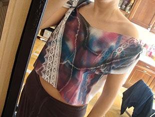Μπλουζάκι με φυσικά στένσιλ 8