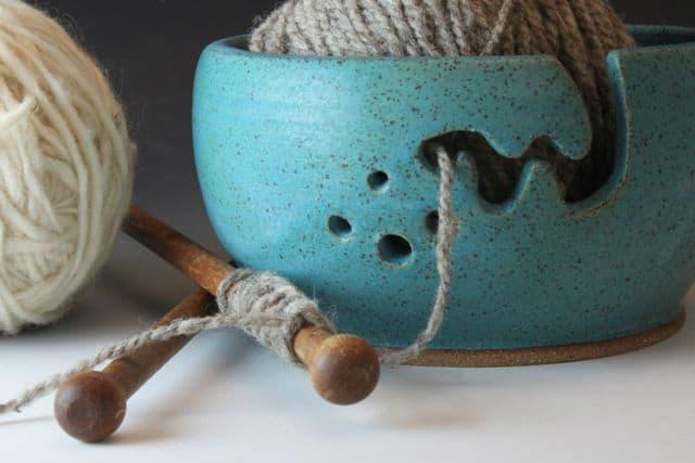 Μπώλ για μαλλί πλεξίματος (yarn bowl) 2