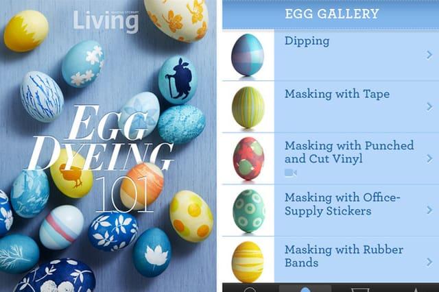 Iphone app για το βάψιμο των αυγών από τη Martha 1