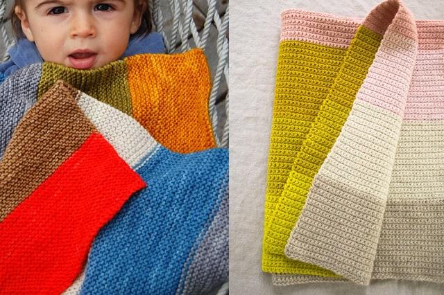 Εύκολη πλεκτή παιδική κουβέρτα 1
