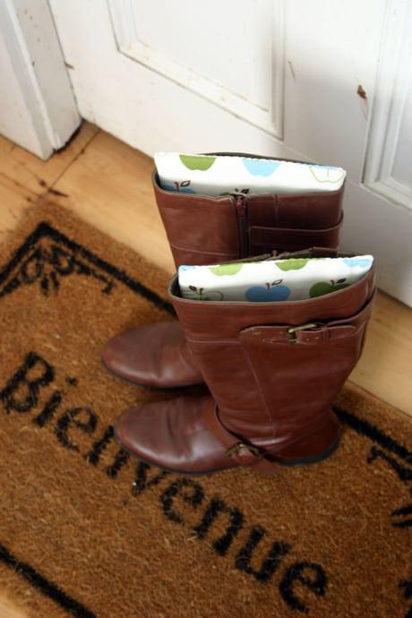 αποθηκεύεις τις μπότες