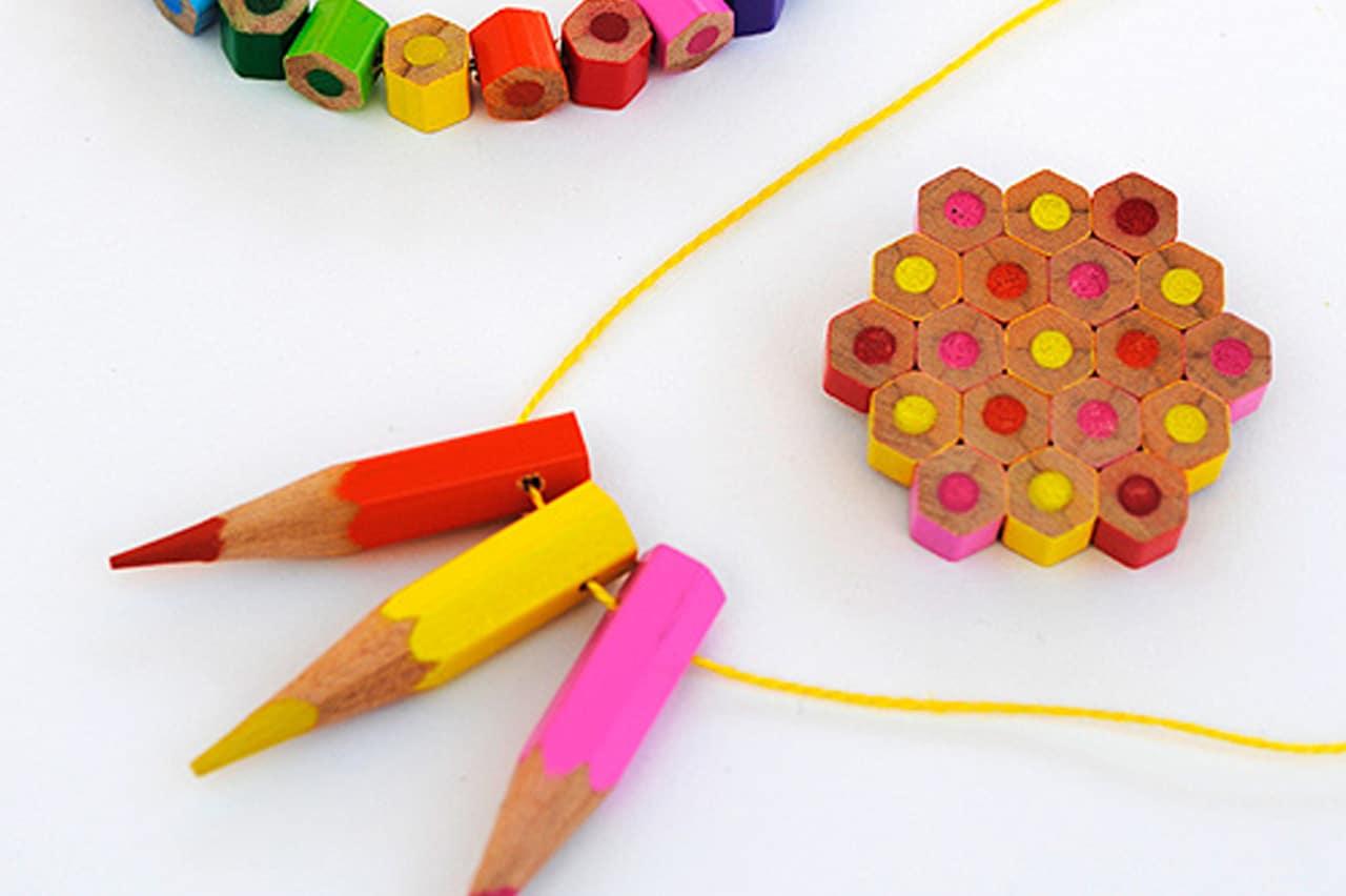 Χάντρες από χρωματιστά μολύβια 1