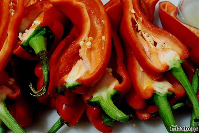 Ψητές πιπεριές Φλωρίνης σε βάζο