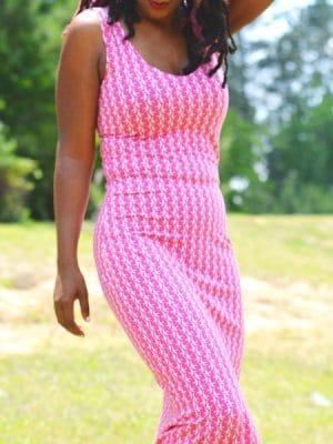 Ελαστικό maxi φόρεμα