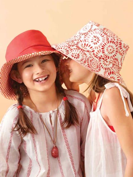 Πάνινο καπέλο διπλής όψης για την παραλία