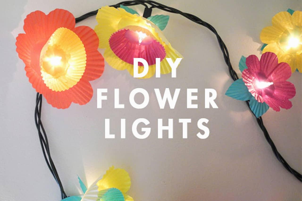 Διακοσμητικά φωτάκια με λουλούδια 3