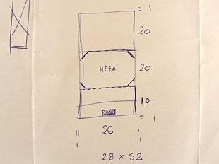 Χειροποίητη θήκη - βάση για ipad 1
