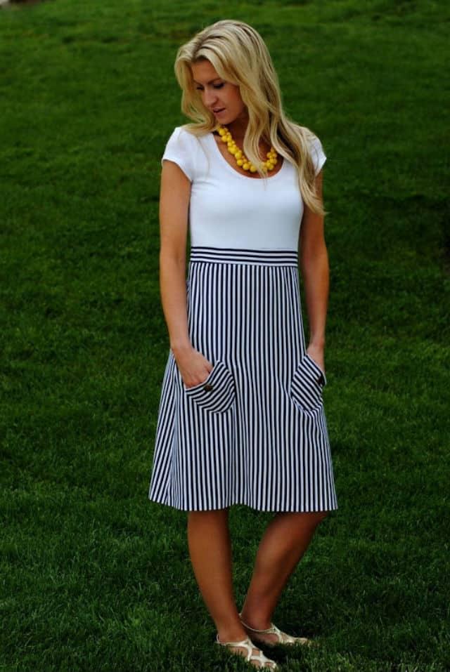 φθινοπωρινό navy φόρεμα