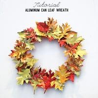 AluminumCanLeafWreath