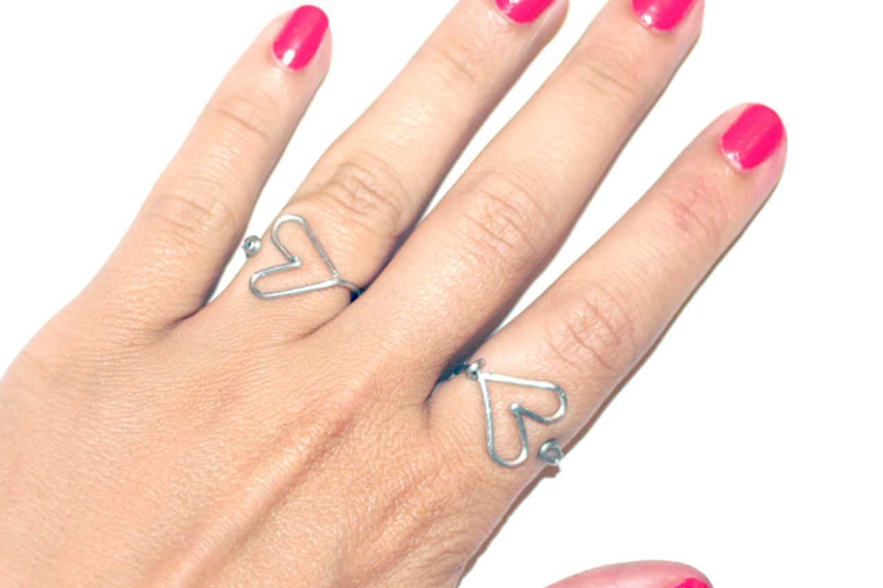 Δαχτυλίδι καρδιά από σύρμα 1