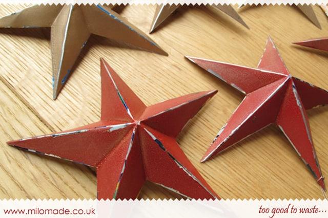 Τρισδιάστατα αστέρια από κουτί αναψυκτικού 3