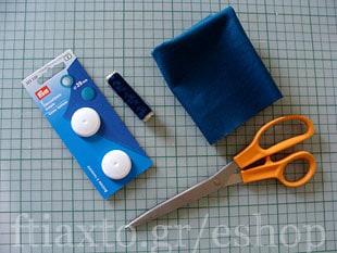 Πως να ντύσεις πλαστικά κουμπιά με ύφασμα 2
