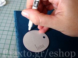 Πως να ντύσεις πλαστικά κουμπιά με ύφασμα 4