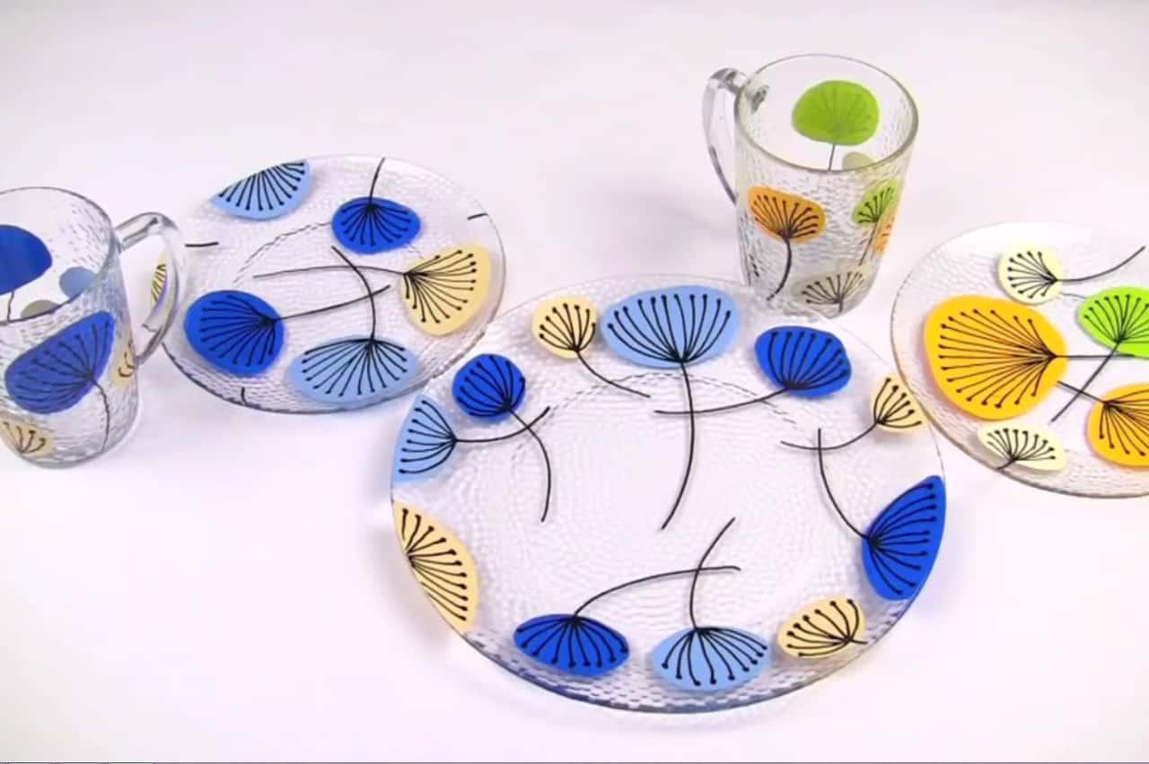 Πώς να ζωγραφίσεις σε πιάτα και ποτήρια 4