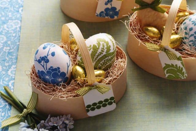 Πασχαλινά αυγά με ντεκουπάζ 1