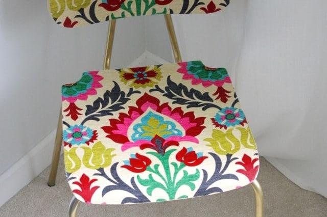 Ανανέωση καρέκλας με ύφασμα 1