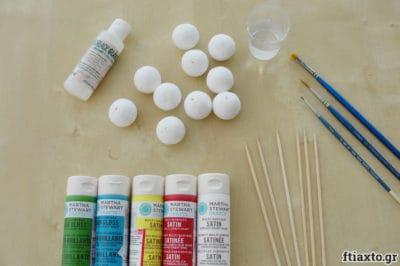Βάφουμε βαμβακερές χάντρες 2