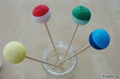 Βάφουμε βαμβακερές χάντρες 6