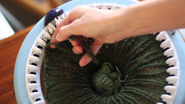 πλέξιμο με μύλους πλεξίματος