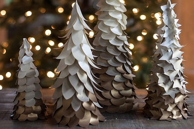Χριστουγεννιάτικα διακοσμητικά δέντρα από χαρτί 4