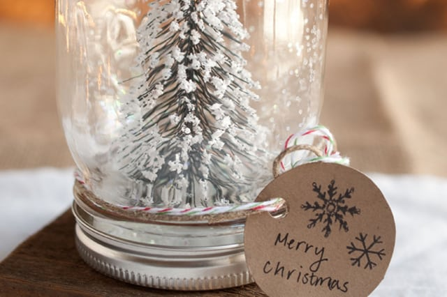 Χριστουγεννιάτικες χιονόμπαλες στο βάζο 2