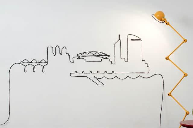 Σχέδια στον τοίχο με καλώδιο 1