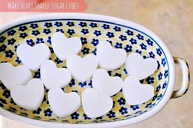 Κύβοι ζάχαρης σε σχήμα καρδιάς 3