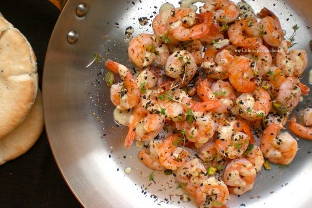 Γαρίδες με Σάλτσα από Ταχίνι και Σκόρδο 3