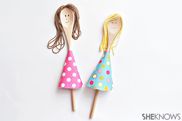 Μαριονέτες από ξύλινες κουτάλες 3