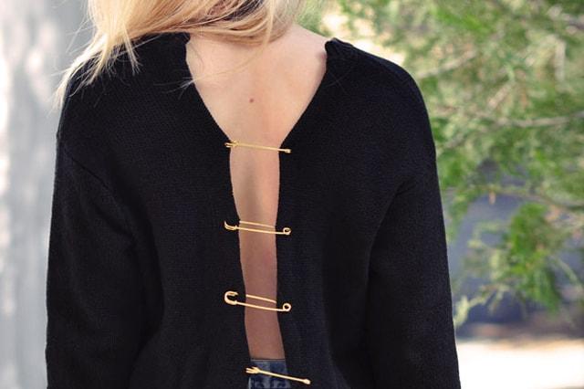 Σέξυ μπλούζα από παλιό πουλόβερ 4