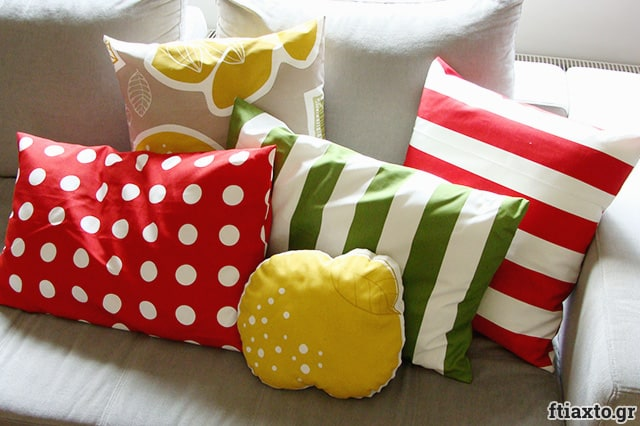 Χειροποίητες θήκες για μαξιλάρια καναπέ 1