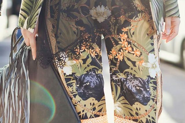 Μεταξωτή παντελόνα από φουλάρι
