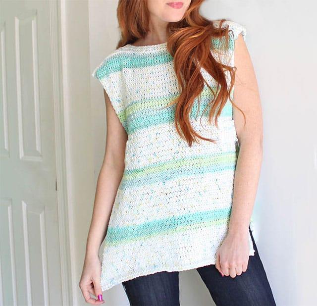 πλέξιμο καλοκαιρινή μπλούζα