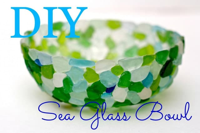 Μπωλ με γυαλάκια της θάλασσας