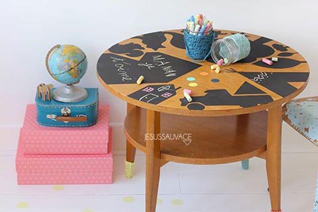Παιδικό τραπέζι με μαυροπίνακα 1