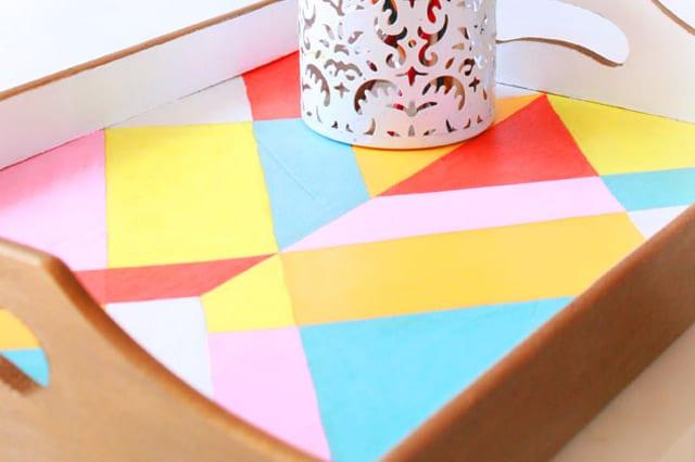 Χρωματιστός ξύλινος δίσκος 1