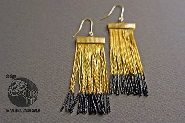 Εντυπωσιακά σκουλαρίκια από αλυσίδες 1
