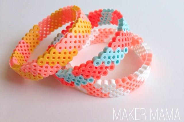 Βραχιόλια από hama beads 1