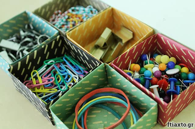 Χάρτινα κουτάκια origami για τα συρτάρια σου