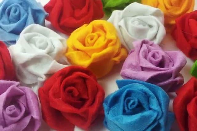 Τριαντάφυλλα από τσόχα 1
