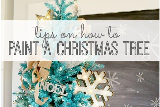 Πως να βάψεις ένα Χριστουγεννιάτικο δέντρο 3