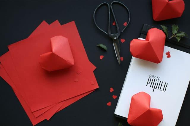 Τρισδιάστατες καρδιές από χαρτί 1