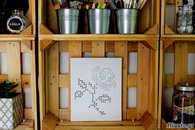 Ζωγραφιστή σταυροβελονιά σε καμβά 1