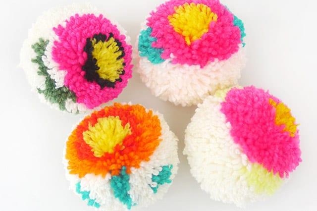 Φτιάξε πομ πον λουλούδια 1